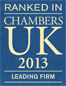 Ranked in Chambers UK 2013 - Leading Firm